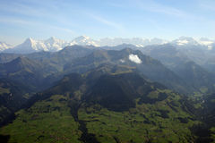 多山高山的横向 免版税库存图片