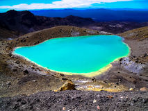 多山Tongariro横穿的惊人的看法,新西兰 免版税库存照片