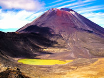 多山Tongariro横穿的惊人的看法,新西兰 免版税库存图片