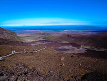 多山Tongariro横穿的惊人的看法,新西兰 库存照片