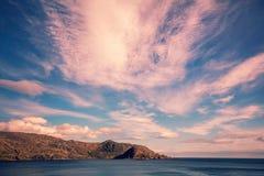 多岩石的海滩, Nordkapp,挪威 图库摄影