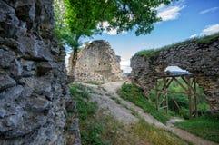 多布拉Voda城堡,斯洛伐克 库存照片