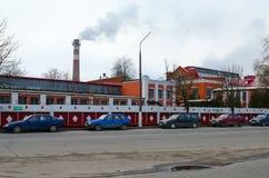 多布鲁什纸劳方1870,白俄罗斯的工厂英雄大厦复合体  库存图片