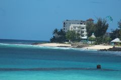 多弗海滩巴巴多斯 免版税库存图片