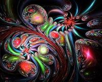 多彩多姿抽象的背景 库存例证