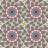 多彩多姿无缝的规则圈子的样式 向量例证
