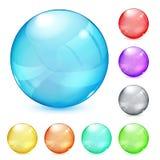 多彩多姿的不透明的玻璃球形 向量例证
