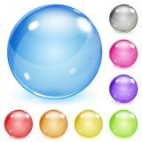 多彩多姿的不透明的玻璃球形 库存例证