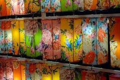 多彩多姿的中国灯笼 免版税库存照片