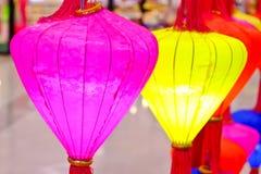 多彩多姿的中国灯笼 库存照片