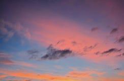 多彩多姿的云彩 图库摄影
