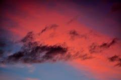 多彩多姿的云彩 库存照片