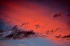 多彩多姿的云彩 库存图片