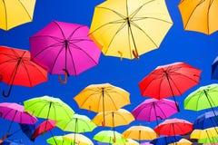 多彩多姿的伞 库存图片