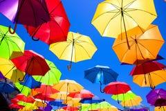 多彩多姿的伞 免版税库存图片
