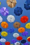 多彩多姿的伞 免版税库存照片