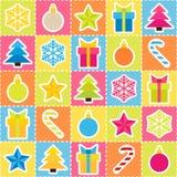 多彩多姿的假日背景。无缝的样式 免版税图库摄影