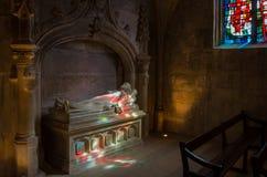 多彩多姿的光在教会里 库存照片