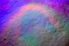 多彩多姿的光照亮冷,白色雪 库存照片