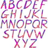 从多彩多姿的几何形状的字母表 库存图片