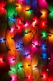 多彩多姿的圣诞灯 免版税库存照片
