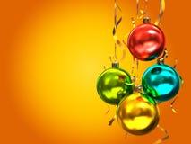 多彩多姿的圣诞节球 免版税库存图片