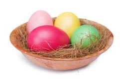 多彩多姿的复活节彩蛋 库存图片
