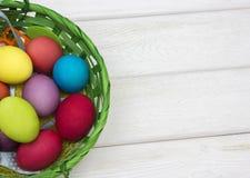 多彩多姿的复活节彩蛋 免版税库存图片