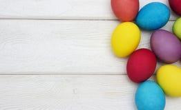 多彩多姿的复活节彩蛋 免版税图库摄影