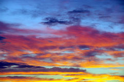 多彩多姿的天空 库存图片