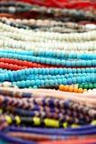 多彩多姿的小珠 免版税库存图片