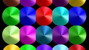 多彩多姿的小组锥体,3d动画,移动锥体的小组,改变的颜色,灵活的形状,vfx录影 库存例证