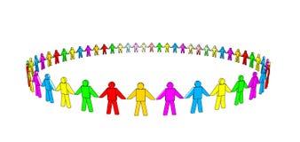 多彩多姿的小组 向量例证