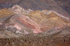 多彩多姿的山 库存照片