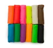 多彩多姿的彩色塑泥 库存照片