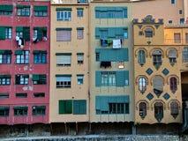 多彩多姿的房子在希罗纳,西班牙 免版税库存照片