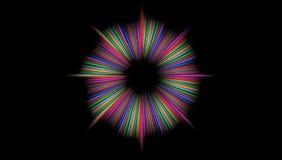 多彩多姿的抽象传染媒介被遮蔽的波浪背景墙纸 生动的颜色传染媒介例证 皇族释放例证