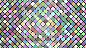 多彩多姿的抽象对角方形的马赛克样式背景-无缝的圈行动图表 库存例证