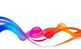 多彩多姿的抽象波浪背景 免版税库存图片