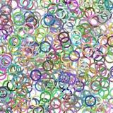 多彩多姿的抽象混乱圈子背景 向量例证