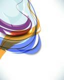 多彩多姿的抽象通知模板背景 库存例证