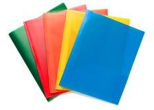 多彩多姿的文件文件夹 库存图片