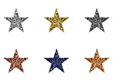 多彩多姿的星形 向量例证