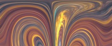 多彩多姿的条纹的纹理,与弯曲的线 库存例证