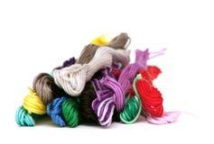 多彩多姿的棉花线程数 免版税库存照片