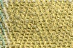 多彩多姿的棉花螺纹组织宏指令关闭 免版税库存照片