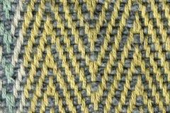 多彩多姿的棉花螺纹组织宏指令关闭 库存照片