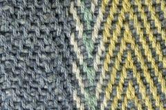 多彩多姿的棉花螺纹组织宏指令关闭 图库摄影