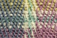 多彩多姿的棉花螺纹组织宏指令关闭 免版税图库摄影