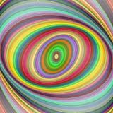 多彩多姿的椭圆分数维艺术背景 向量例证